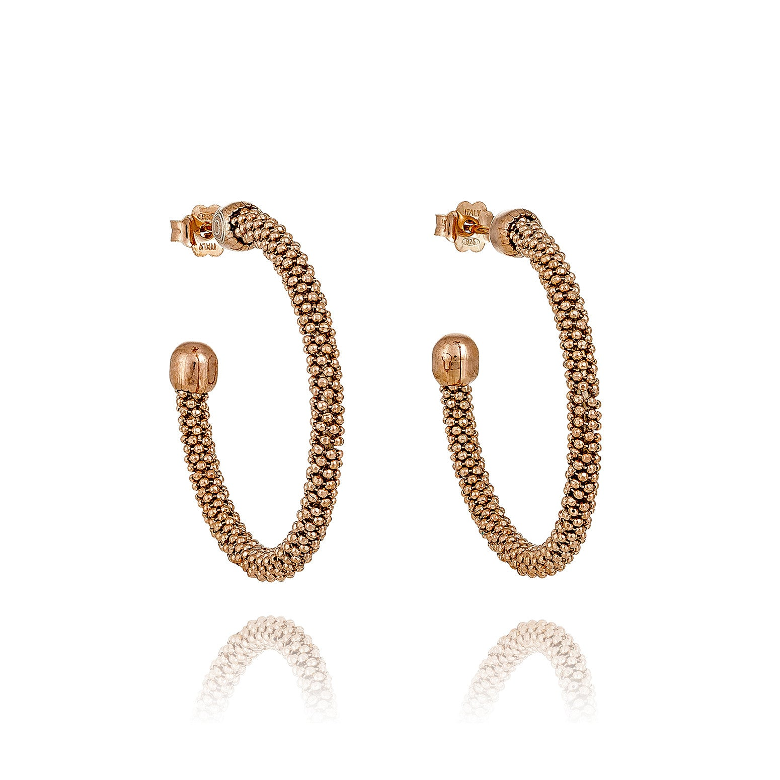 Durrah Jewelry Spring Hoop Earrings