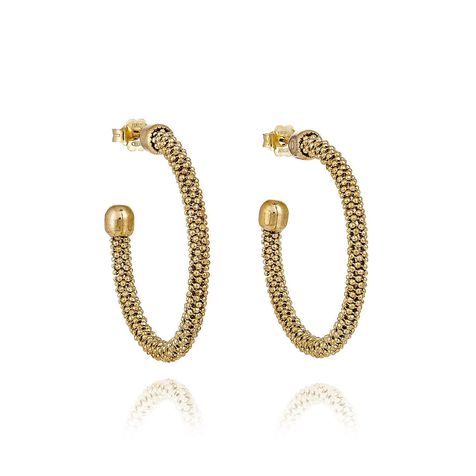 Durrah Jewelry Gold Spring Hoop Earrings