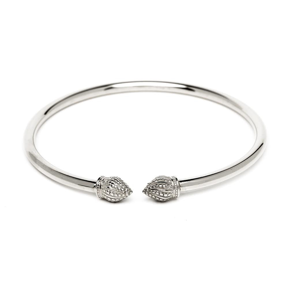 Durrah Jewelry Silver Cylinder Bangle