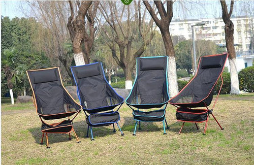 Ultralight Folding Leisure Chair with Head Support-Chair-Your Outdoor Club