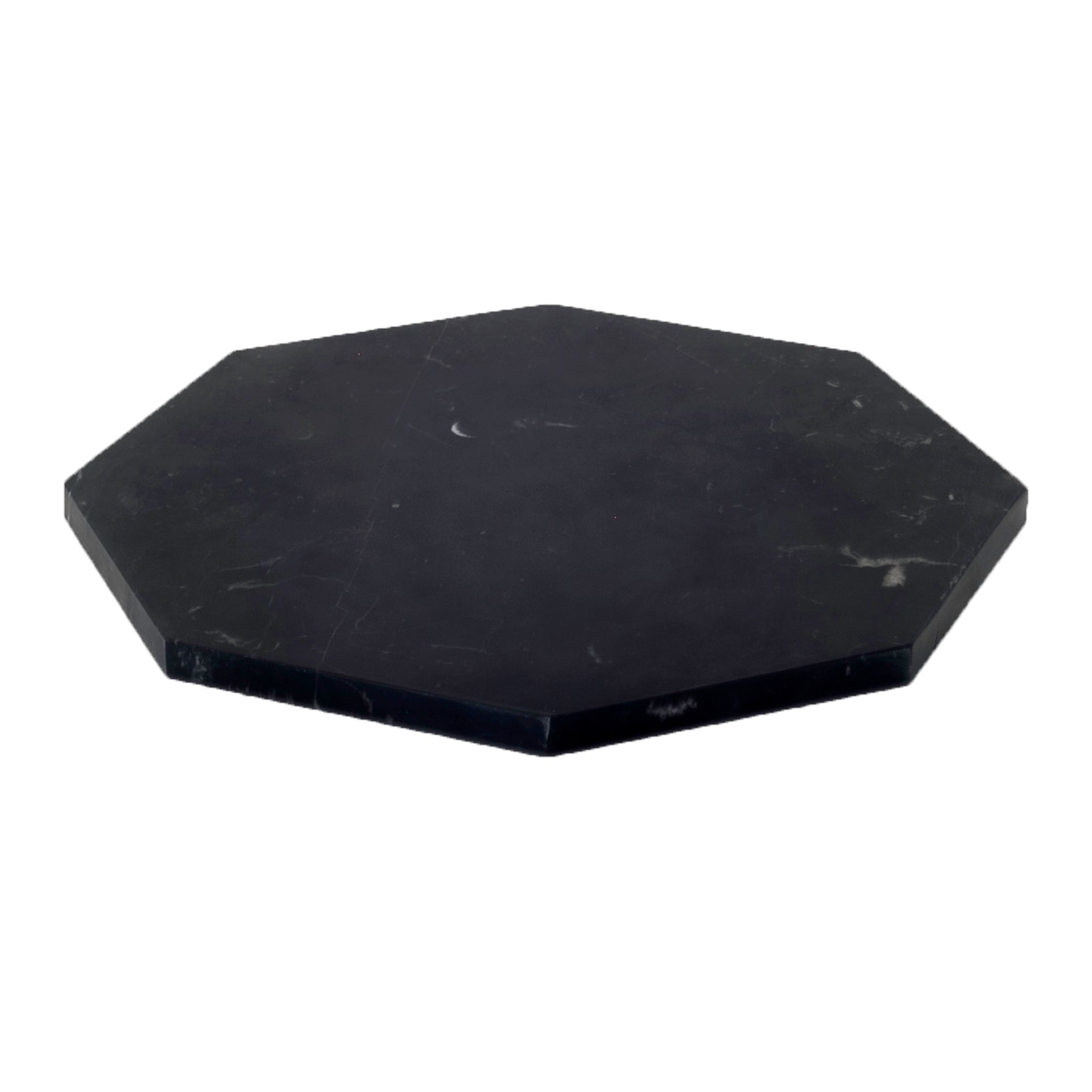 BLACK MARBLE OCTAGONAL TRAY