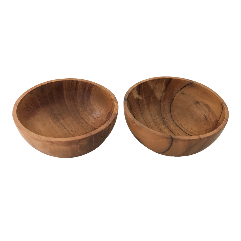 TEAK PINCH BOWL SET