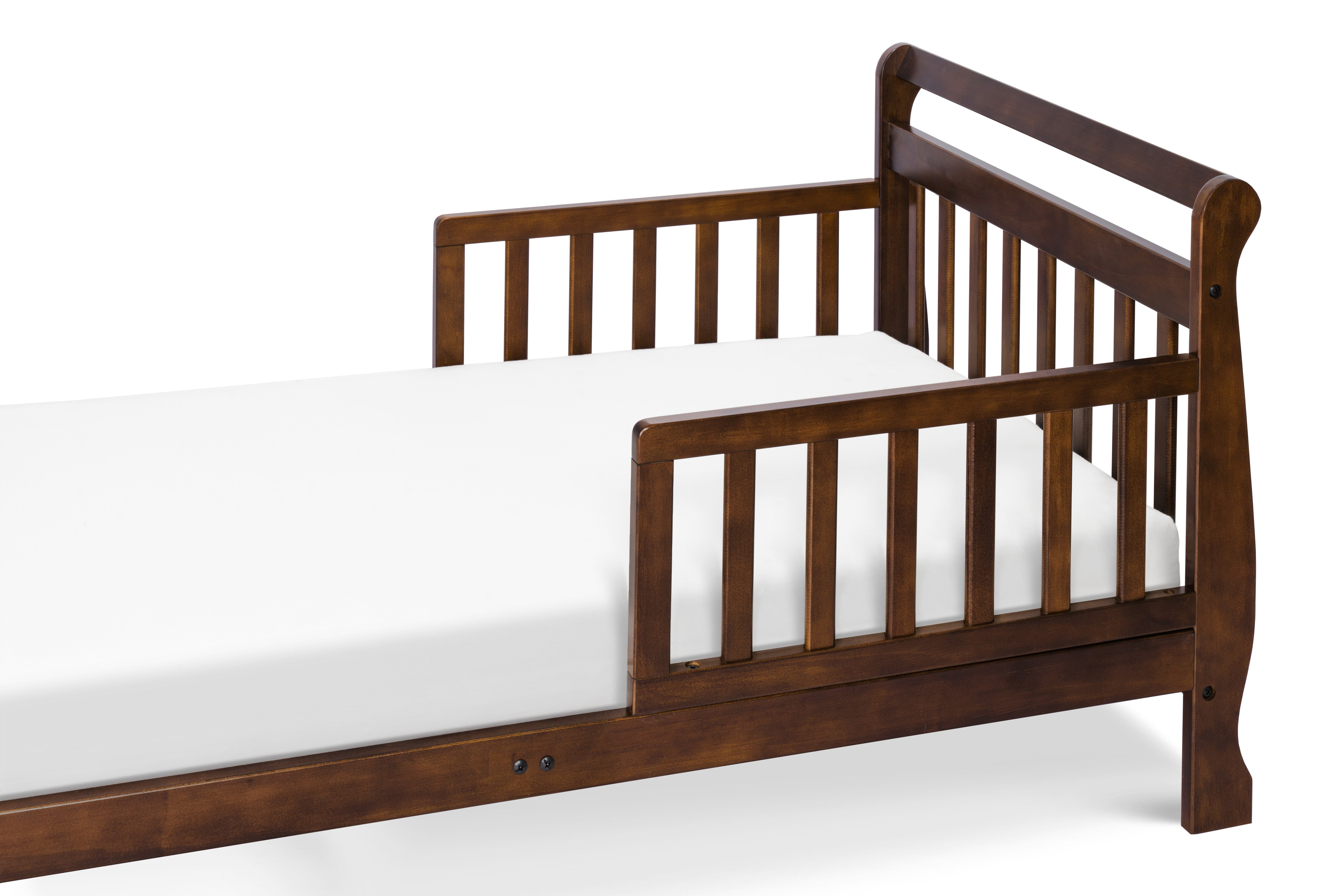 M2990Q,Sleigh Toddler Bed In Espresso Finish