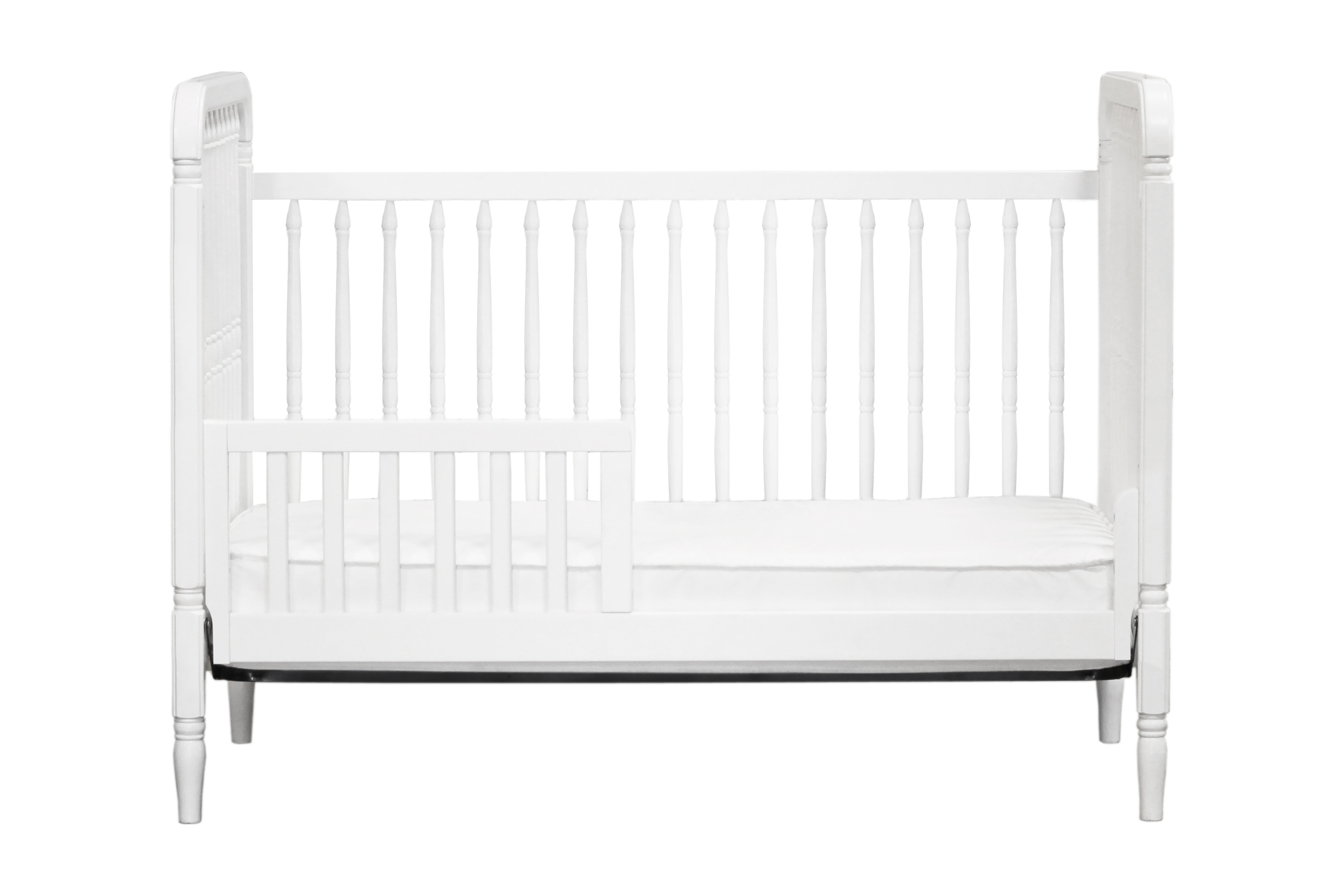 M7101W,Liberty 3-in-1 Convertible Crib With Toddler Bed Conversion Kit in White Finish