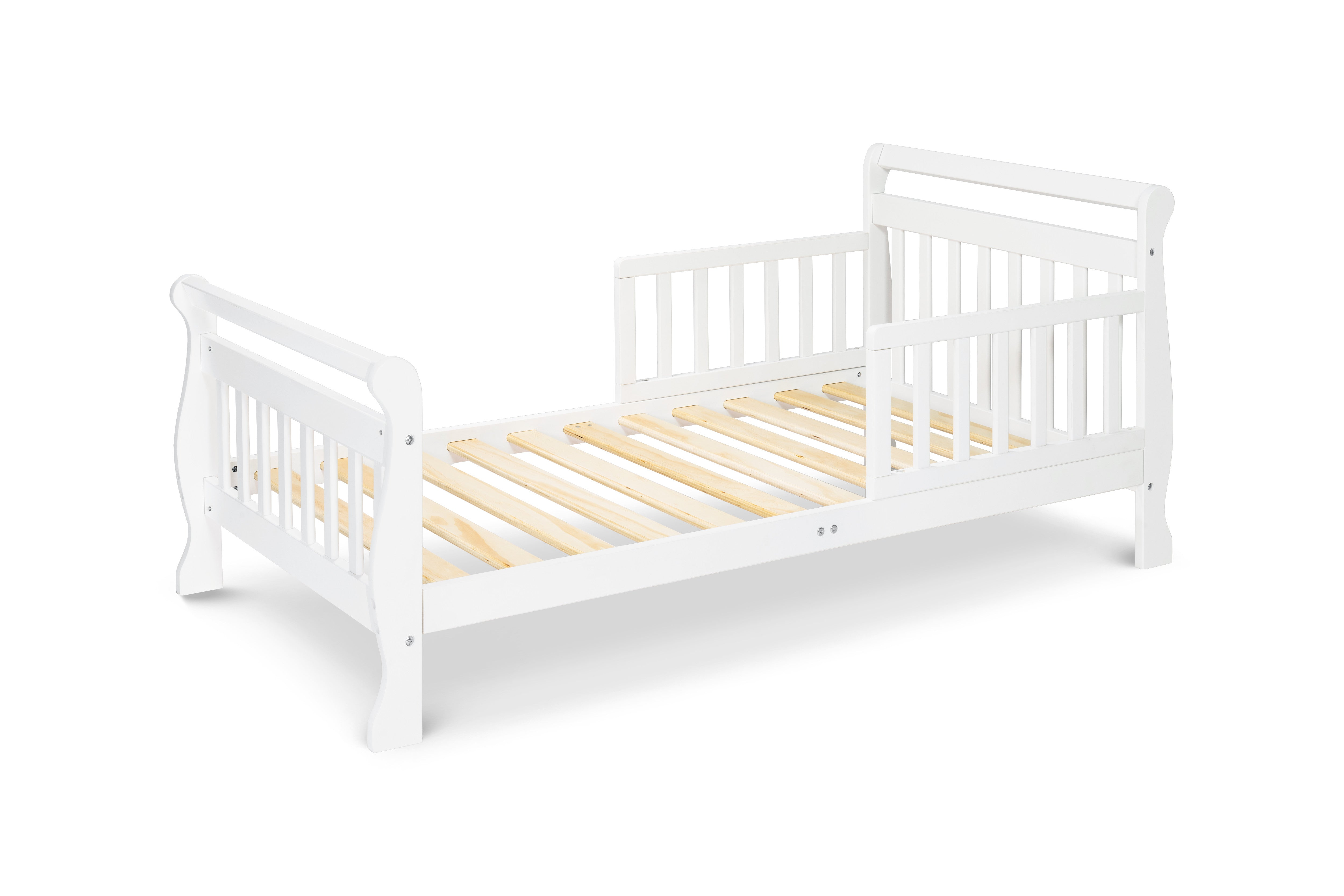 M2990W,Sleigh Toddler Bed In White Finish