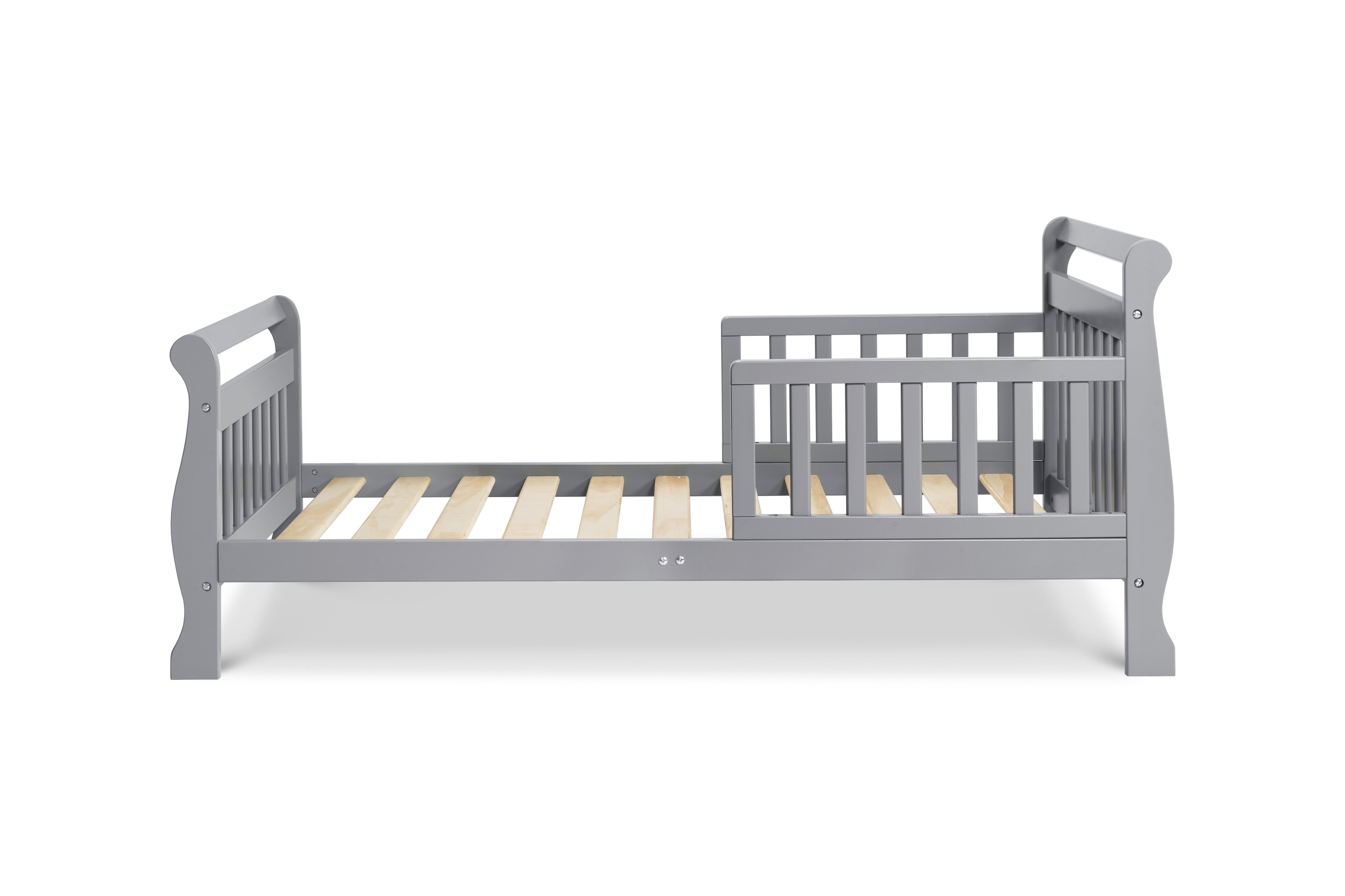 M2990G,Sleigh Toddler Bed In Grey Finish