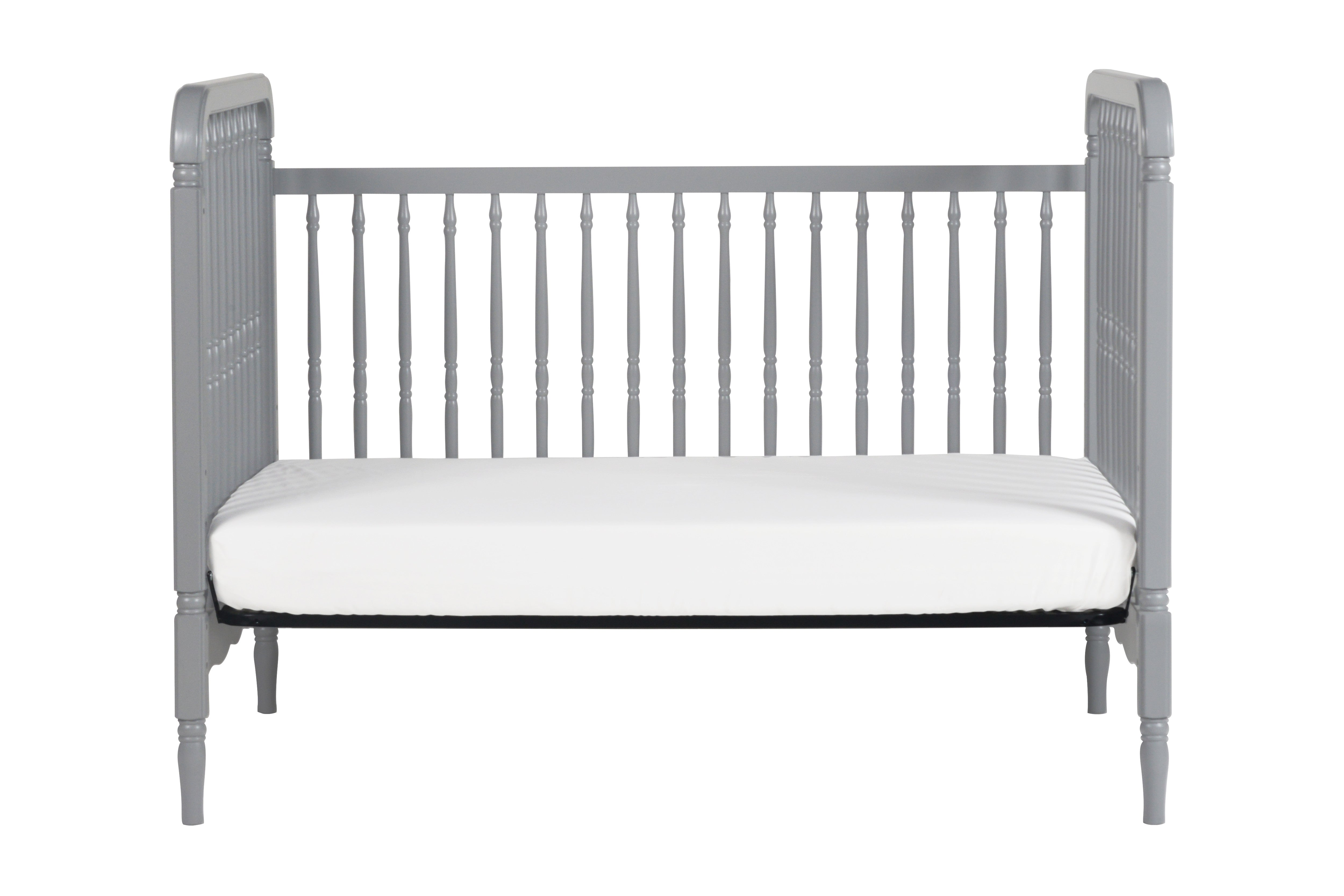 M7101G,Liberty 3-in-1 Convertible Crib With Toddler Bed Conversion Kit in Grey
