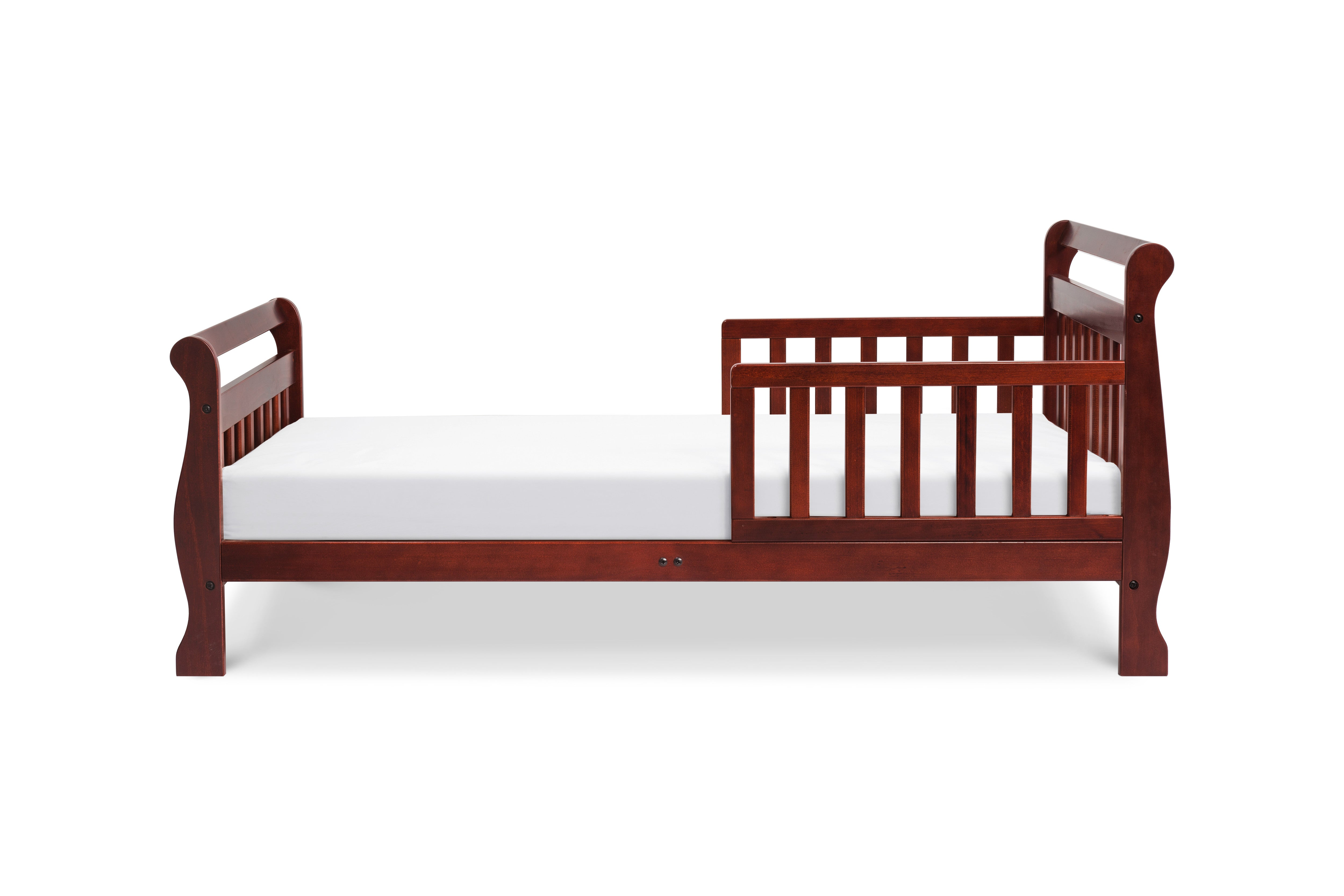 M2990C,Sleigh Toddler Bed In Rich Cherry Finish