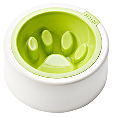 FelliP Lime Kaleido Good Manners Cat Bowl