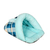 Blue Plaid Slipper Cat Cave