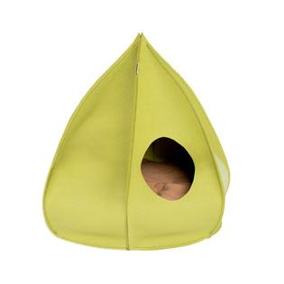 Green Pea Berta Wool Cat Cave
