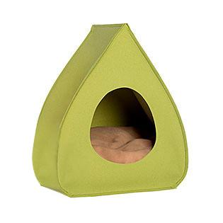 Green Pea Pina Wool Cat Cave