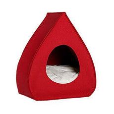 Red Pina Wool Cat Cave