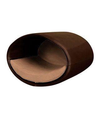 Rondo Wall-Mounted Brown Leather Cat Home