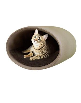 Rondo Wall-Mounted Grey Felt Cat Home
