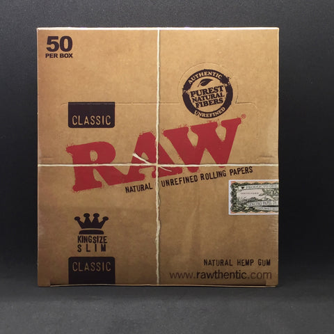 Raw® Classic Rolling Papers - Kingsize Slim
