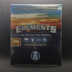 Elements Ultra Thin Rice Papers - King Size Slim - Set of 50