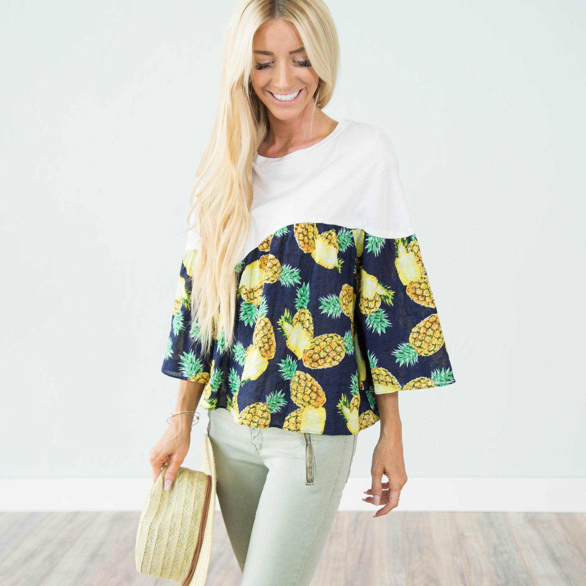 Pineapple Printed Top
