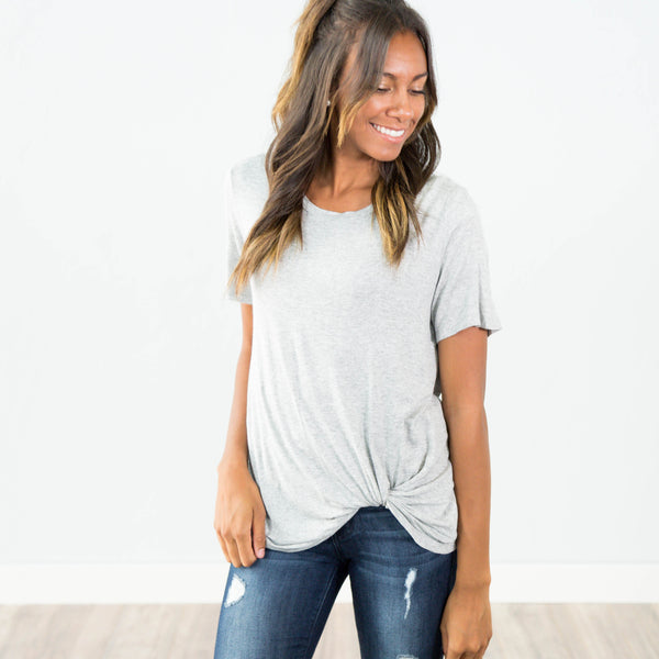 Lexie Tee in Heather Grey