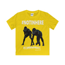 #NOTINHERE Defensive T-Shirt (Youth-White text)