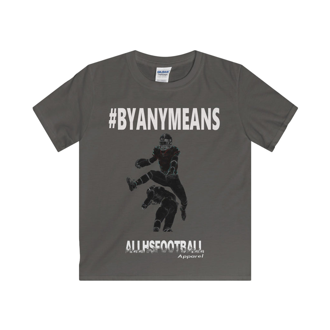 #BYANYMEANS Offensive T-Shirt (Youth-White Text)