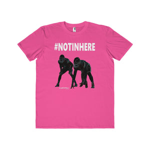 #NOTINHERE Defensive T-Shirt (Adults-White Text)