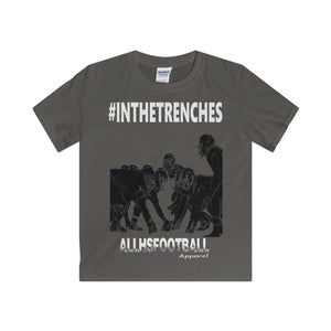 #INTHETRENCHES Linemen T-Shirt (Youth-White text)