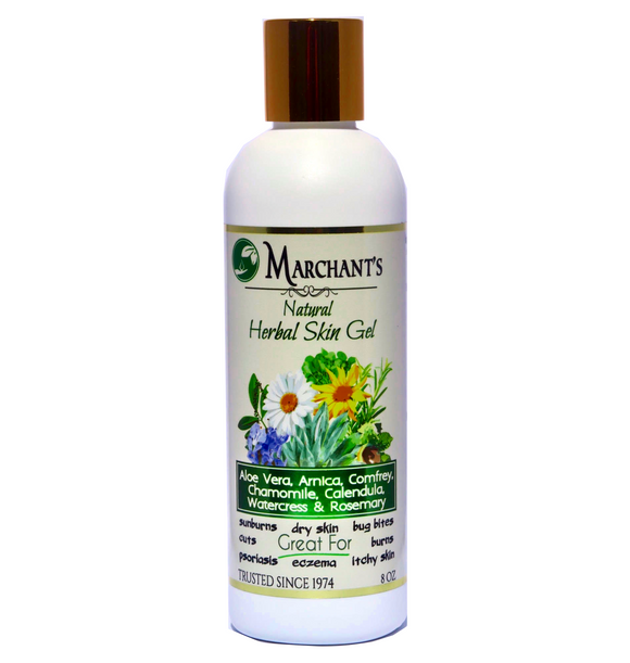 Natural Herbal Skin Gel -Nourish, Soothe and Moisturize Skin Naturally - 8 oz