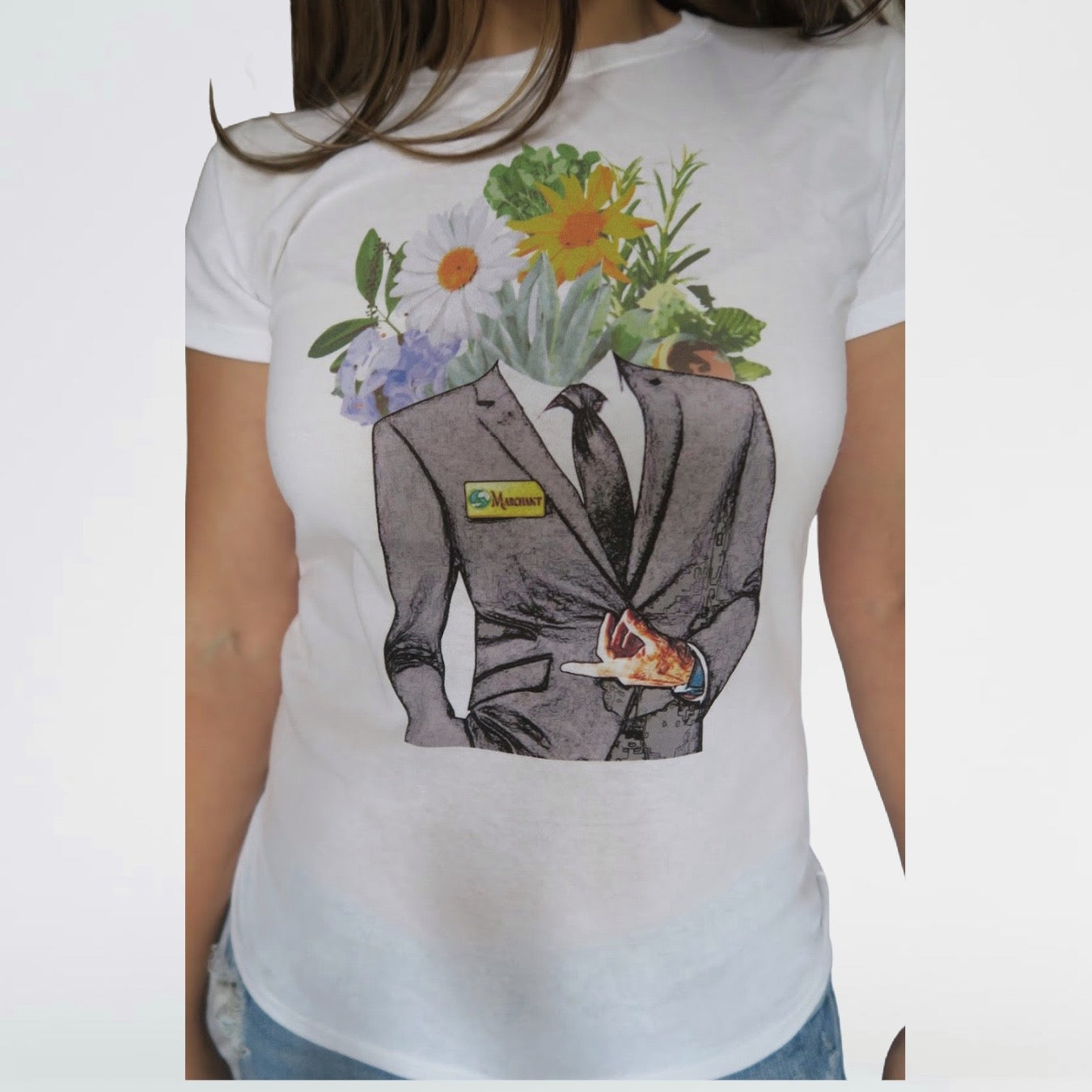 "YOU SHOP. WE DONATE.- Women's ""Marchant Man"" T-Shirt"