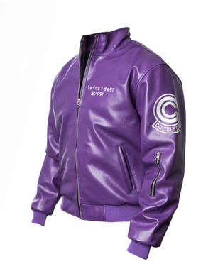 Purple Capsule Bomber Jacket