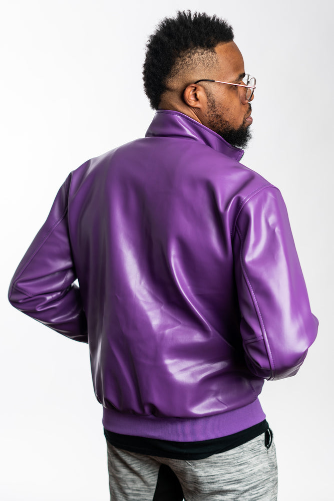 Dragon Ball Z Trunks Inspired Bomber Jacket; Purple Capsule