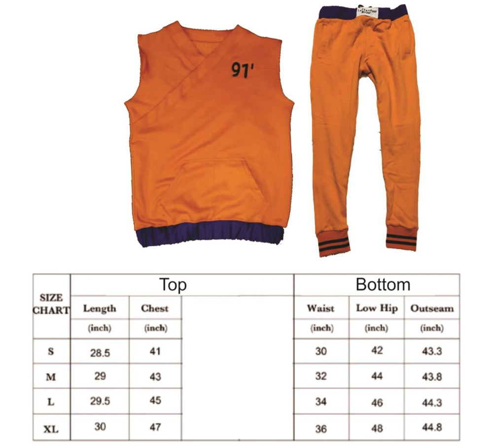Dragon Ball Z Trunks Inspired 2 Piece Sweat Suit; Future Hope
