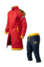 Pirate King Red Captain Coat and Pants Bundle