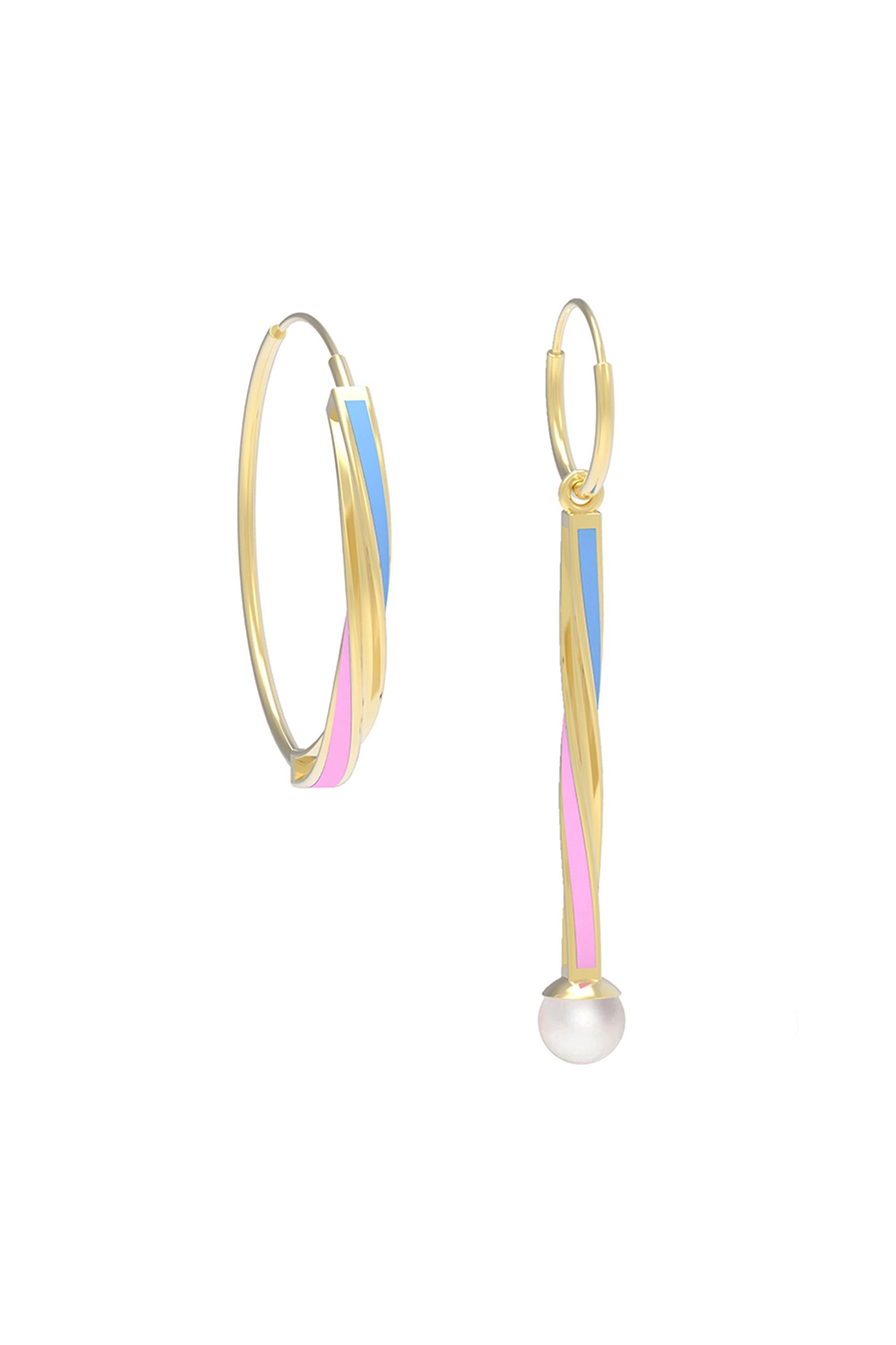 crystal and jewelry lyst metal anton flower gallery white in earrings heunis asymmetric pearl