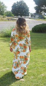 Ivory Floral Maxi