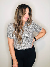 Cheetah Cinched Sleeve top