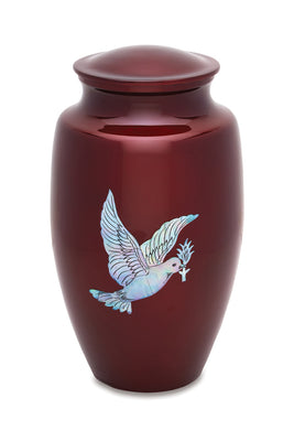 Mother of Pearl Dove Urn