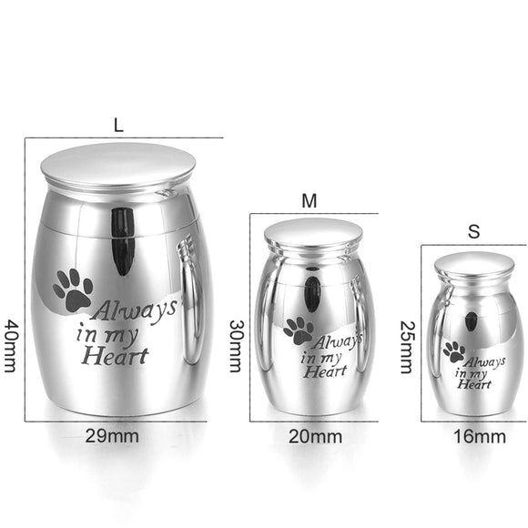 Beautiful Stainless Steel Cremation Urn keepsake