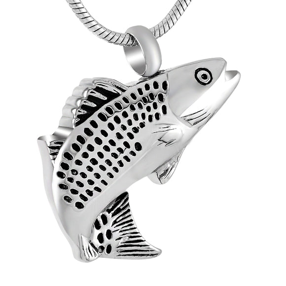 Fish Cremation Necklace