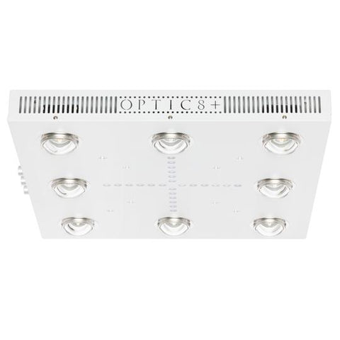 OPTIC 8+ Dimmable COB LED Grow Light 500W (UV/IR) 3500k COBs - 90 Degree  Lenses (4x4)
