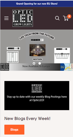New OpticLed Grow Lights Store in Europe