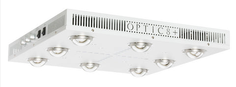 OPTIC 8+ Dimmable COB LED Grow Light 500W (UV/IR) 3500k COBs - 120 Degree Lenses (5x5)