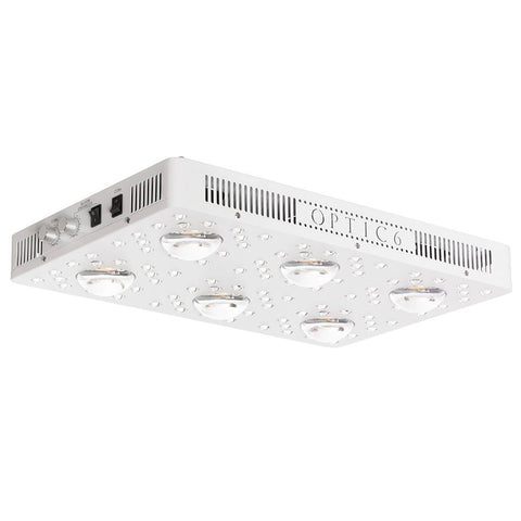 Optic 6 Gen4 Dimmable COB LED Grow Light 570w (UV/IR) 3000k & 5000k COBs