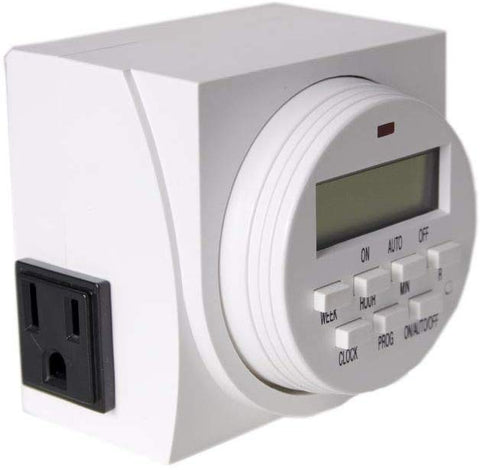 Autopilot Dual Outlet 7-Day Grounded Digital Programmable Timer, 1725W, 15A