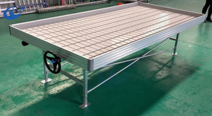 4' x 8' Rolling Bench - Ebb & Flow table with Built in 4x8 Tray