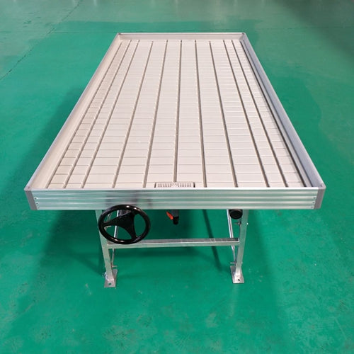 4' x 8' Rolling Bench with Tray- Ebb & Flow table with Built in 4x8 Tray