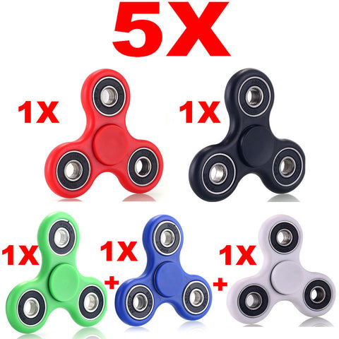 Pack 5x HAND SPINNER TRI FIDGET BALL TOY FOCUS ADHD AUTISM