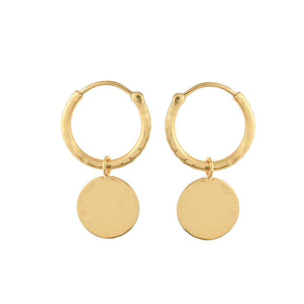14K Gold Margot Coin Hoops