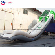 Commercial customized inflatable floating yacht slide,4m height inflatable water yacht slide for boat
