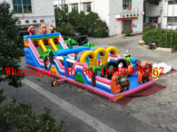 (China Guangzhou) Manufacturers sell inflatable slides  / inflatable trampoline /inflatable obstacle course YLY-004